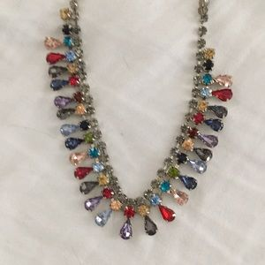 Necklace with multicolored crystals